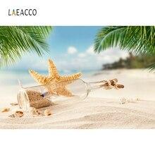 Laeacco Drifting Battle Starfish Backdrop Summer Beach Portrait Photography Background Photographic Backdrops For Photo Studio