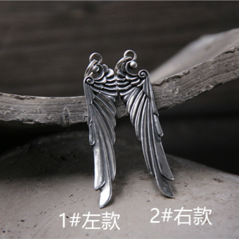 925 Sterling Silver Angel Wings Necklace Pendant Men Women Angel Wings Pendant Guardian Angel Charm Gifts Wing Necklace Jewelry