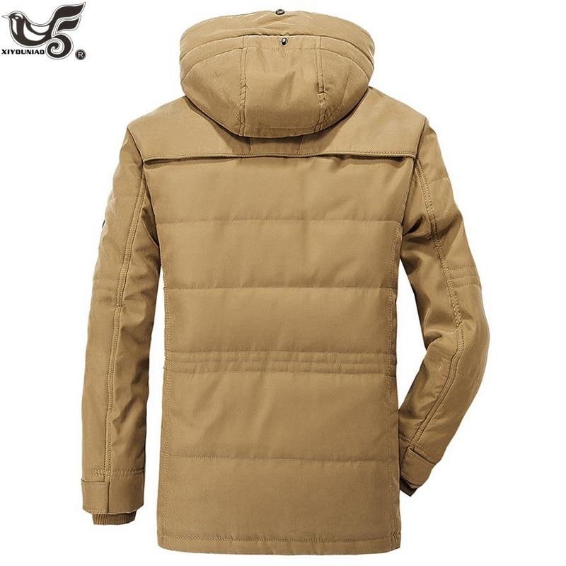 Marque hiver veste hommes taille 5XL 6XL chaud épais coupe-vent haute qualité polaire coton-rembourré Parkas militaire pardessus vêtements - 3