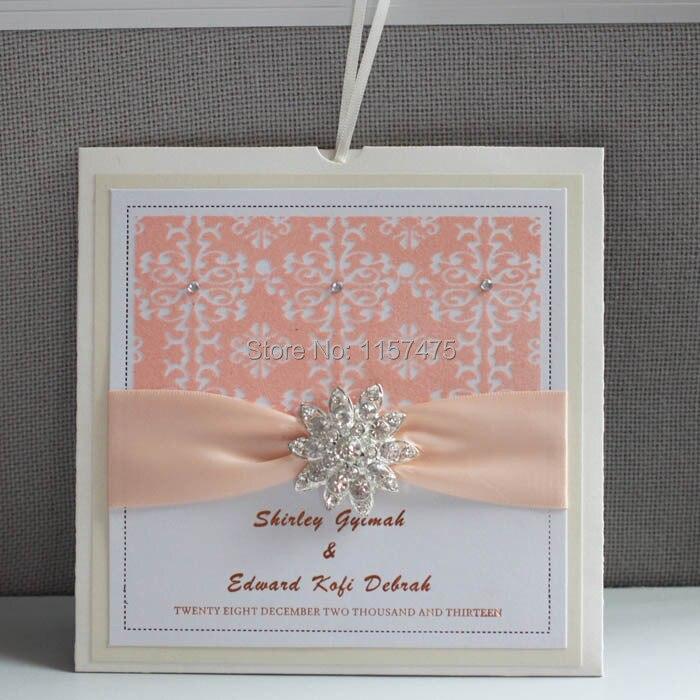 online shop hi6005 customized beige wedding invitation envelope