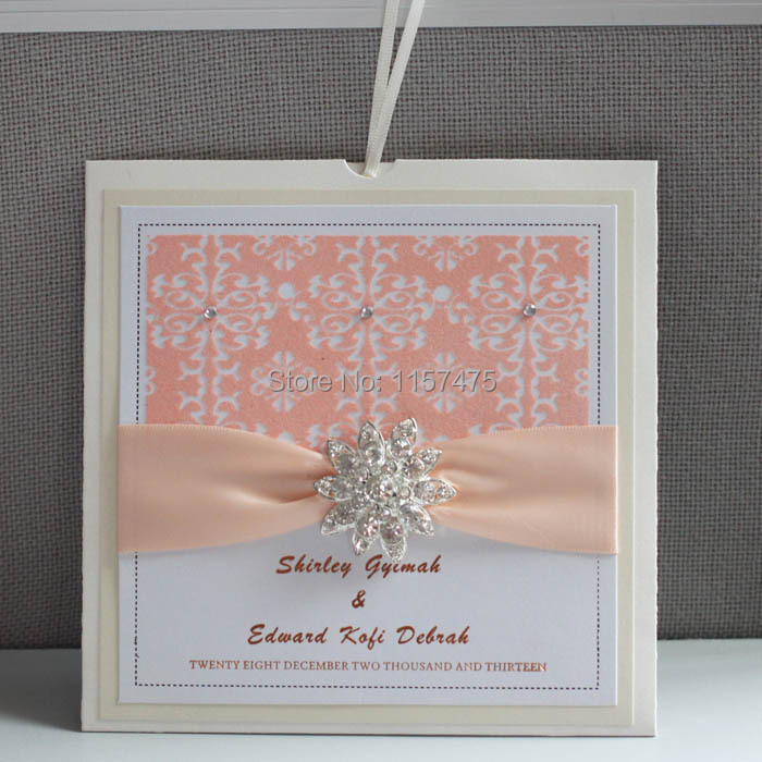 Latest Party Supplies Wedding Favors Personalized Peach Invitations Luxury China
