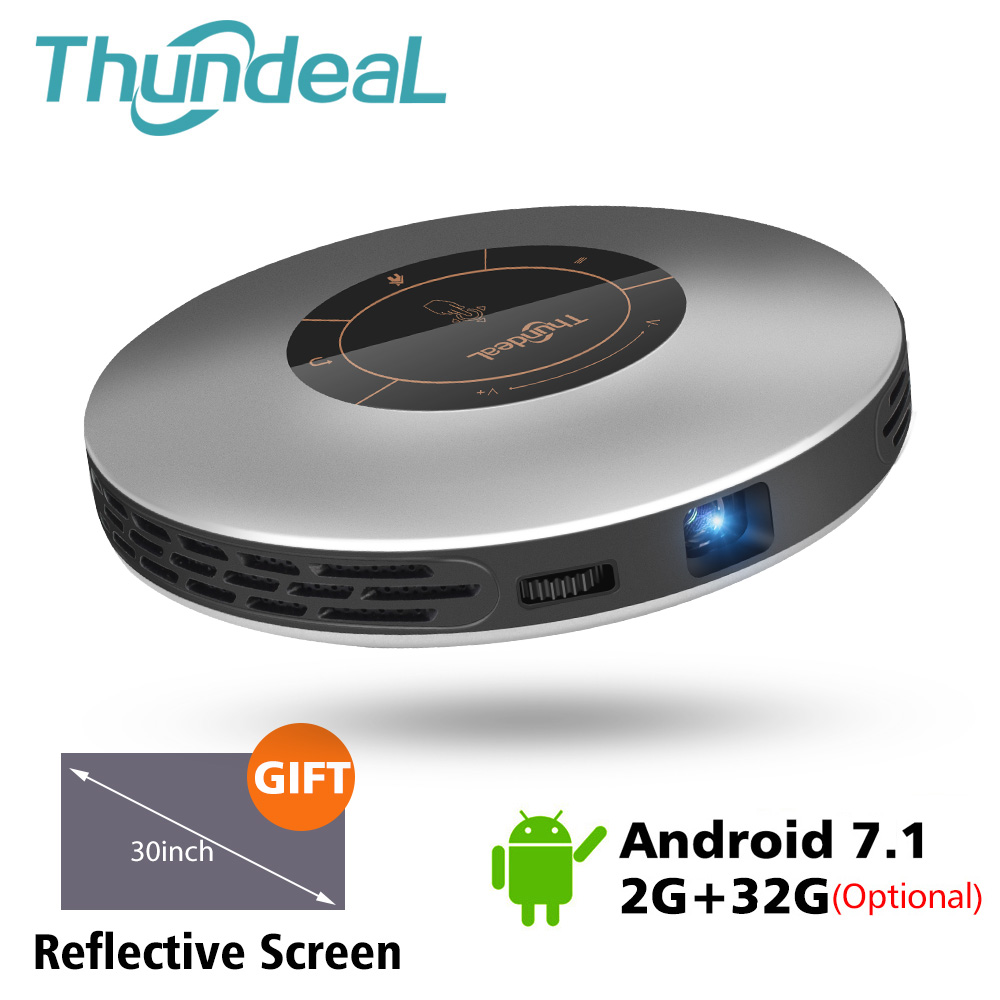 ThundeaL DLP Projector T18 Update to T18 Max WiFi Android 7 Pico Pocket HDMI for 4K 16G 32G Mini LED Proyector 3D T18MAX Beamer(China)