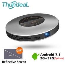ThundeaL DLP проектор T18 Max WiFi Android 7,1 Pico Карманный HDMI Поддержка 4 K 1080 P 16G 32G мини светодиодный проектор 3D T18MAX