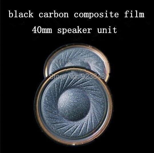40mm speaker unit  Headphone Accessories Black carbon composite film
