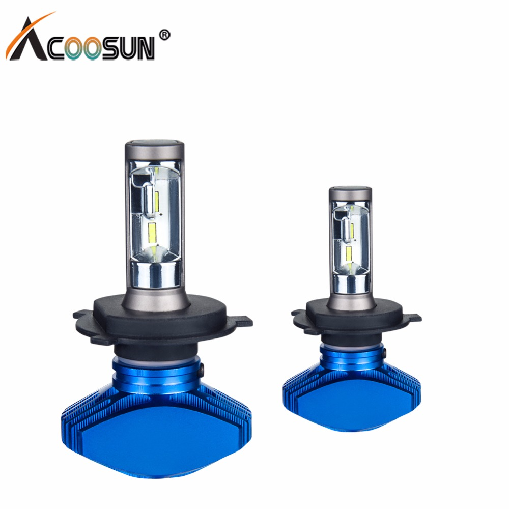 AcooSun H7 Led Fanless H4 Car Headlight H1 H11 Fog Lamp Hb4 80W set Car Lamp