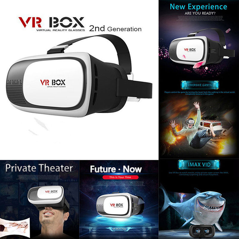 """<font><b>2016</b></font> Head Mount Plastic <font><b>VR</b></font> <font><b>BOX</b></font> 2.0 Version <font><b>VR</b></font> Virtual Reality Glasses <font><b>Google</b></font> <font><b>Cardboard</b></font> 3d Game <font><b>Movie</b></font> for 3.5"""" - 6.0"""" Smart Phone"""