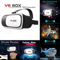 """2016 cabeça de montagem de plástico caixa de 2.0 versão vr vr realidade virtual óculos google papelão 3d movie game para 3.5 """"-6.0"""" Telefone inteligente"""