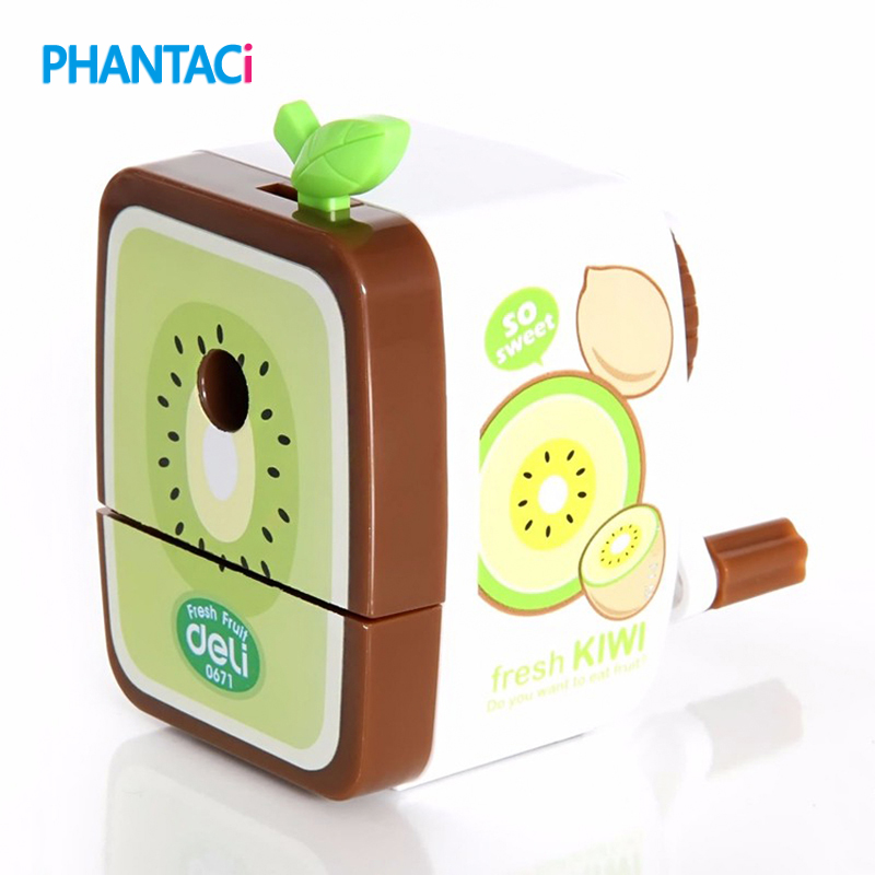 Cute Fruit Design Pensil Sharpener Kawaii IMC Rh Walnut Hand Crank Pencil Cutting Machine Cartoon Stationery