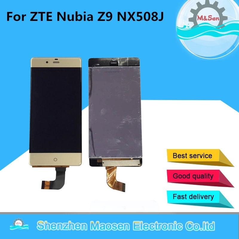 Original M&Sen For 5.2 ZTE Nubia Z9 NX508J Lcd screen display+Touch panel digitizer Gold/Black free shipping