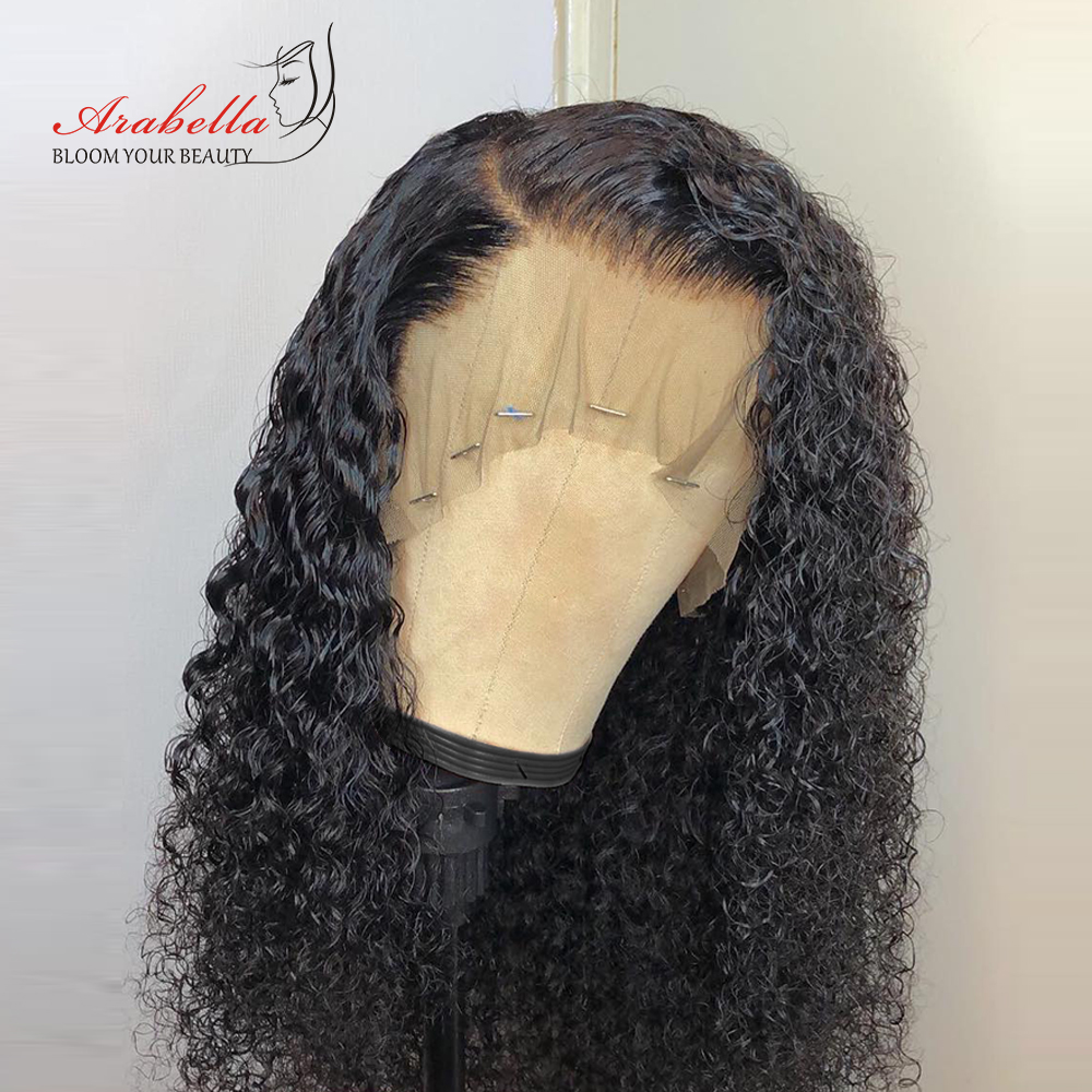 Brazilian 360 Lace Front Wig Kinky Curly Human Hair Wigs Arabella Natural Color Remy Hair 180