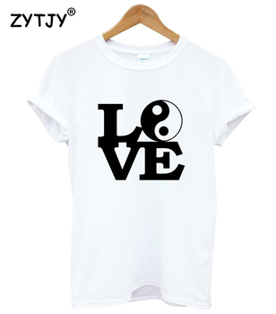 LOVE YIN YANG Print Women Tshirt Cotton Casual Funny t Shirt For Girl Top Tee Hipster Tumblr Drop Ship HH-19