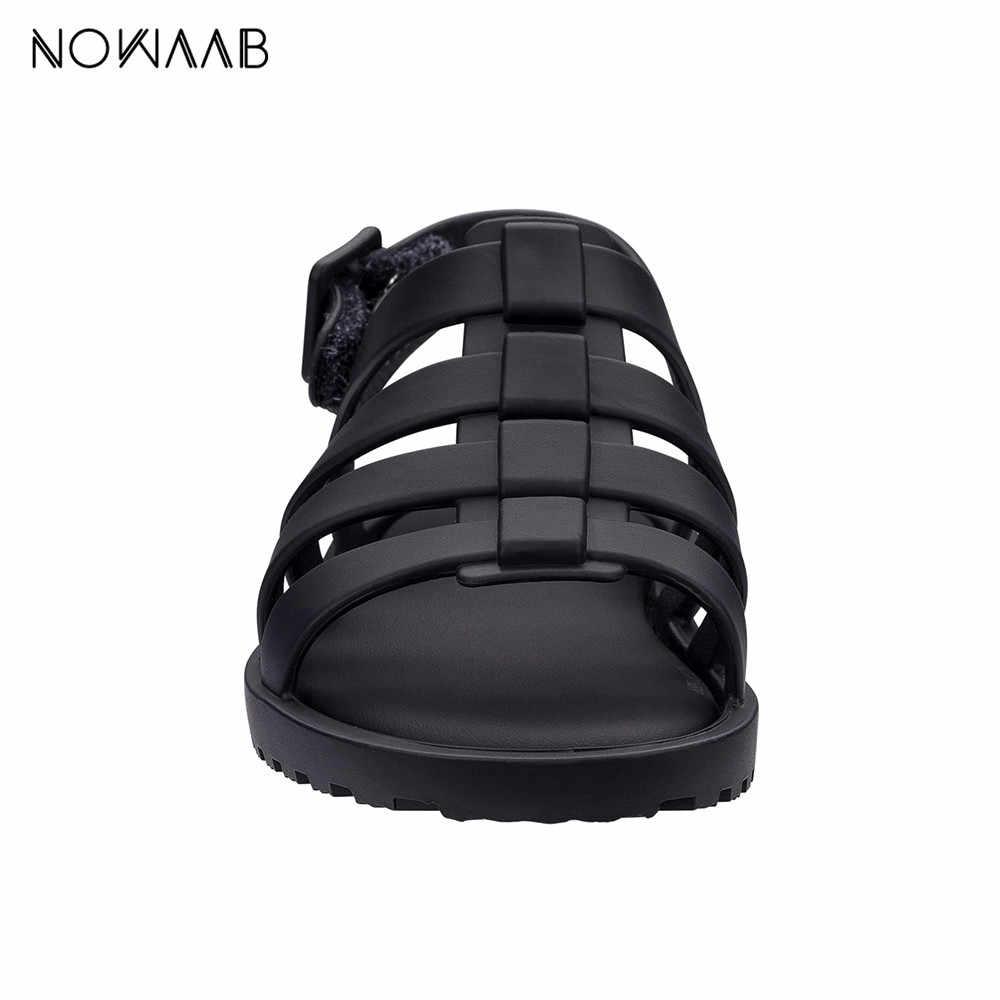Mini Melissa Flox 2019 NEW Roman dziewczyna żelowe sandały sandały dziecięce Melissa dzieci sandały buty plażowe antypoślizgowe malucha sandały