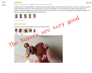 Image 5 - NEW 24colors 24pcs/set Soft Polymer Modelling Clay With Tools Good Package Special Toys DIY Polymer Clay Playdough.