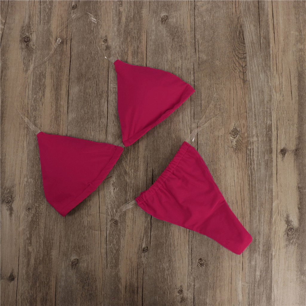 HTB1zkSHTwHqK1RjSZFPq6AwapXaQ Transparent micro bikini 2019 Sexy thong swimsuit separate Bandeau Bikini Set Push-Up Clear Strap Brazilian Swimwear Biquini #H