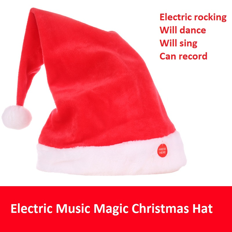 Magic Christmas hat Electric music Christmas hat singing and dancing magic hat and other educational toys