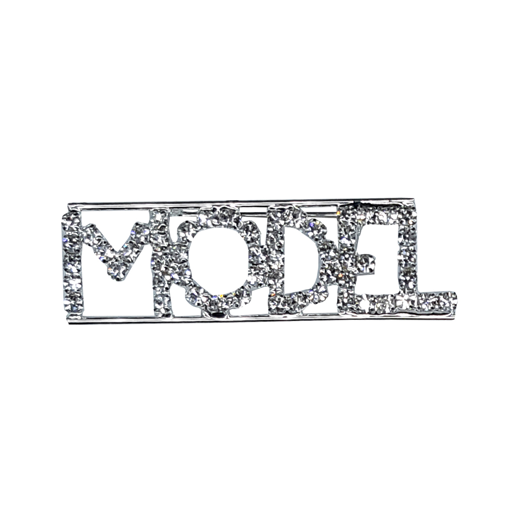 Custom Professions&Jobs Theme Crystal Lapel Pin MODEL Word Brooch Gift Wholesale 6PCS/LOT FREE SHIPPING