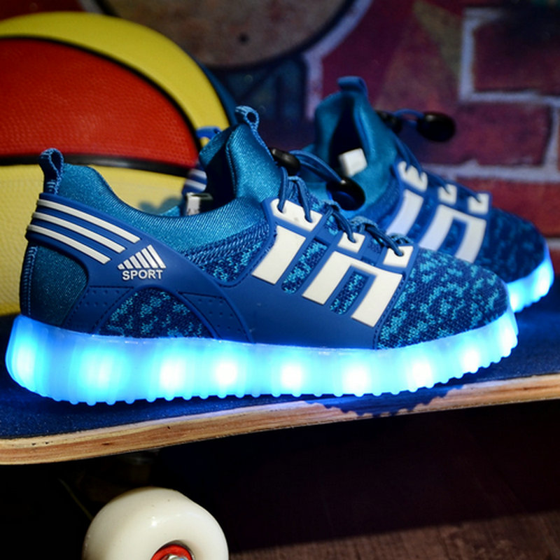 New USB Charging Led Children Shoes With Light Up Kids Casual Boys Girls Luminous Sneakers Glowing Shoes 26-37 EU running shoes 2016 new shoes for children breathable children boy shoes casual running kids sneakers mesh boys sport shoes kids sneakers