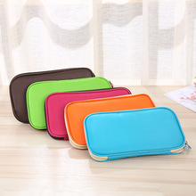 Multifunctional zipper pencil case simple large capacity school pen box office stationery