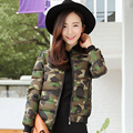 2016 Winter plus size loose Casual women short down cotton-padded jacket Camouflage winter wadded outerwear stand collar
