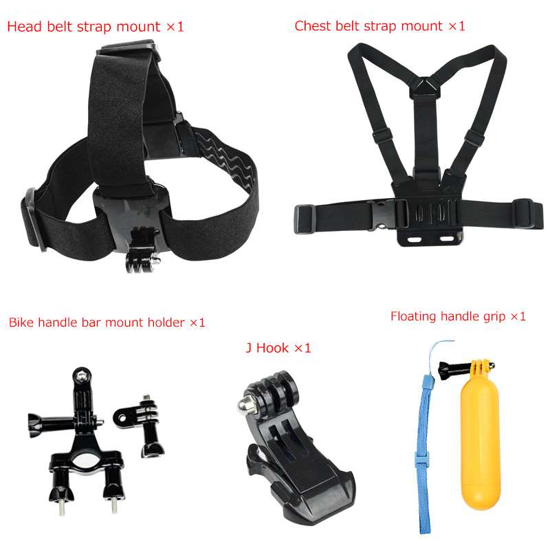 Universal 5 in 1 Set Strap Monopod Floating Bobber Mount with J Hook Accessories for Go Pro Hero 5 4 3+ Camera eals @JH