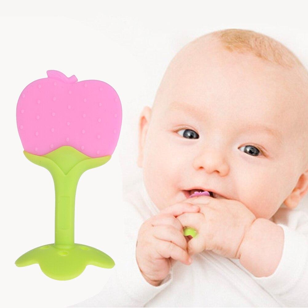 ребенка прорезыватель силиконовый фрукты форма детские