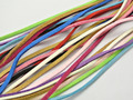 12 Meter Mixed Color Faux Suede Flat Leather Cord Lace String 3mm Handmade jewelry decorative accessories