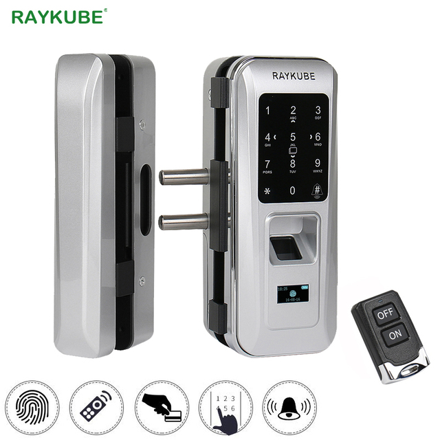 RAYKUBE Biometric Fingerprint Door Lock For Office Glass Door Keyless With Touch Keypad Remote Control Intelligent  sc 1 st  AliExpress.com & RAYKUBE Biometric Fingerprint Door Lock For Office Glass Door ...