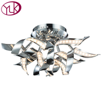 New Modern LED Ceiling Light For Bedroom Chrome Creative Design Hoem Decoration Lighting Fixture High Quality