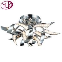 New Modern LED Ceiling Light For Bedroom Chrome Creative Design Hoem Decoration Lighting Fixture High Quality