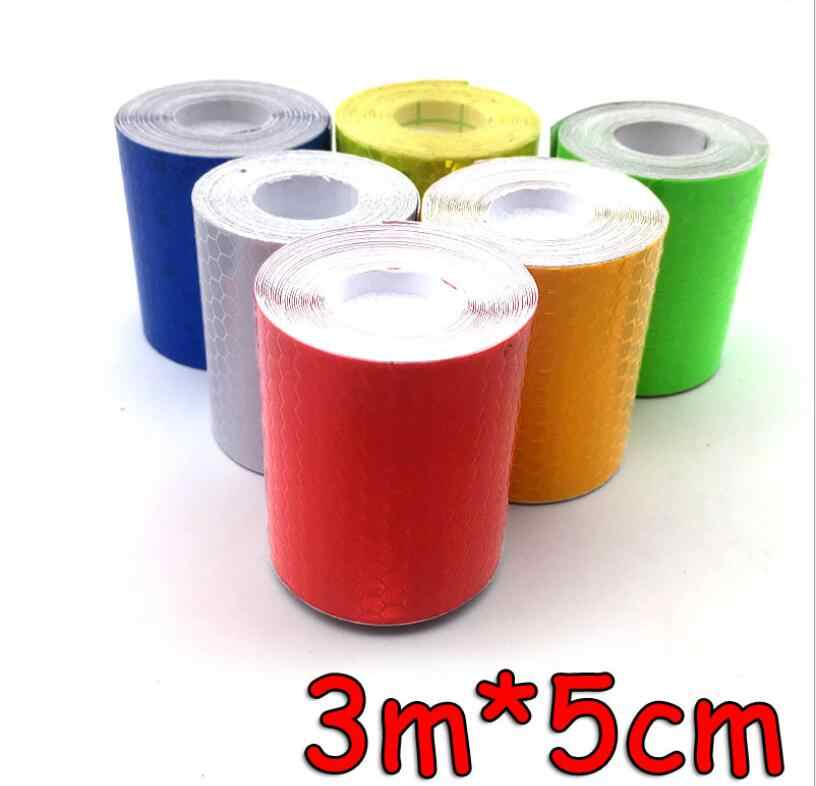 "118"" Safety Mark Reflective Tape Sticker Car Styling Self Adhesive Warning Tape Automobiles Motorcycle Reflective Strip 6color"