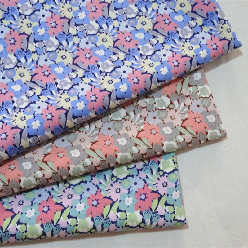half meter small flower print 100% cotton twill fabric infant bedding children bed sheet bed sack cloth A527