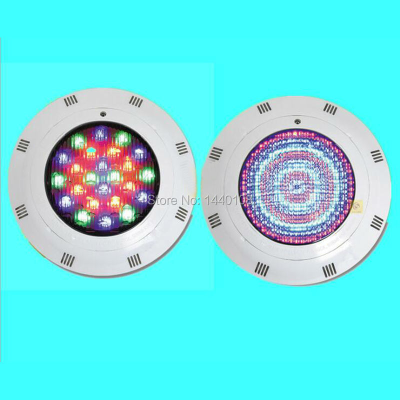 3pcs/lot 24w IP68 Ac12V LED Underwater Light Swimming Pool Led Light For Fountain Pond Waterproof Underwater Rgb Light underwater lights rgb led swimming pool light 24v ip68 waterproof 27w 316 stainless steel colorful changeable fountain lamp