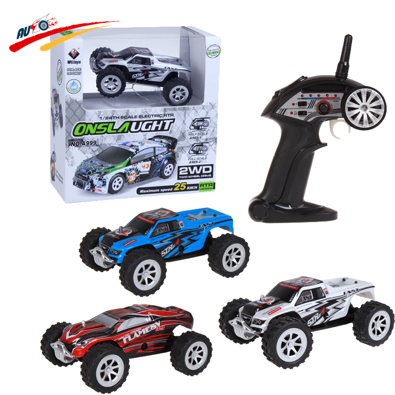 RC Car Wltoys A999 Double-sided driving 1:24 5ch 25km/h Monster Onslaught Monster Truck High Speed Radio Control Vehicle Toy