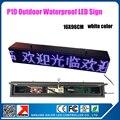 Водонепроницаемой наружной p10 один белый цвет из светодиодов кабинет 16 x 96 см программируемый прокрутка сообщение из светодиодов знак на открытом воздухе
