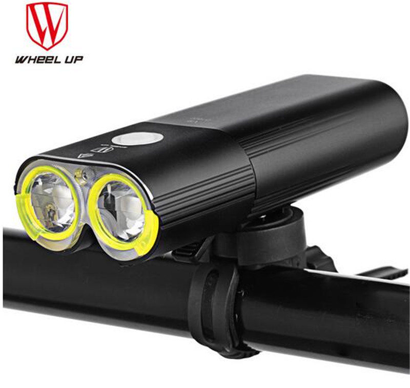 WHEEL UP Bike Light Professional 1600 Lumens Bicycle Light Power Bank Waterproof USB Rechargeable Flashlight For Bike Light
