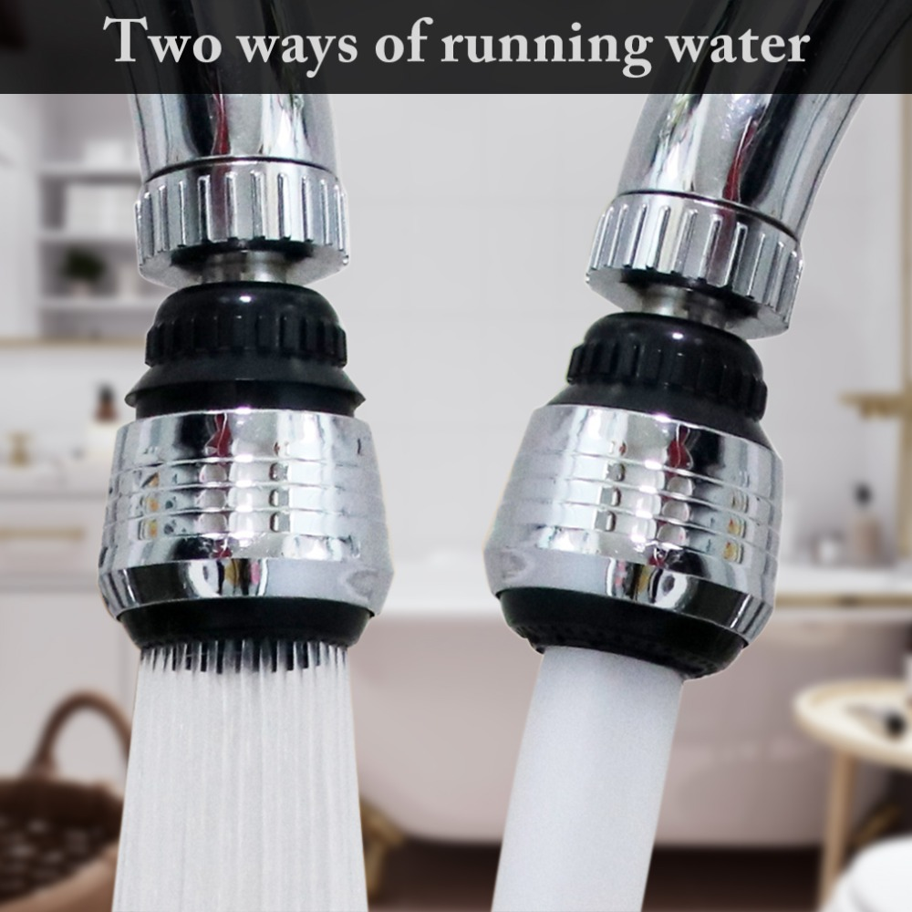 Zinc Alloy Shell 360 Degree Rotate Water Filter Faucet Nozzle Swivel Water Saving Tap Aerator Faucet Nozzle Filter Water Bubbler