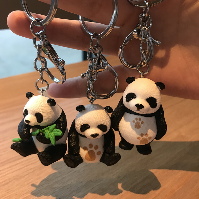 Popular Creative cute Cartoon Keychain Metal Jewelry Animal anda keychain girl bag jewelry accessories gift in Key Chains from Jewelry Accessories