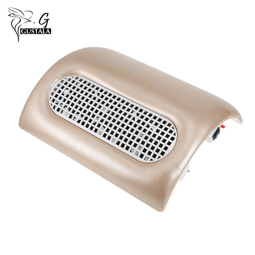 Gustala 100 V-240 V Potente Nail Collettore di Aspirazione Polveri Manicure Macchina Aspirapolvere Strumenti per Manicure Con 3 Ventole + 2 Sacchetto di Polvere