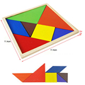 Wooden Baby Jigsaw Puzzle Educational Toys For Children DIY Tangram Handmade Wooden Jigsaw Board