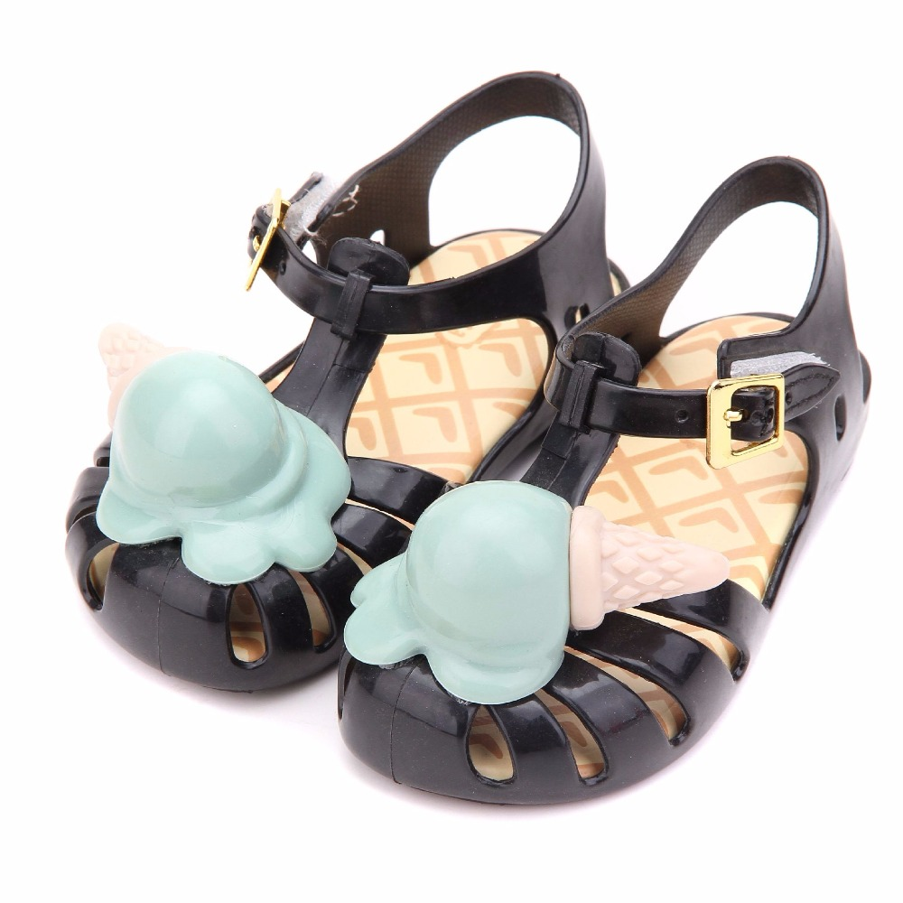 Melissa Roman Ice Cream Girl Jelly Sandals Children Cute Princess Sandals Baby Shoes Children Shoes Melissa Jelly Sandals