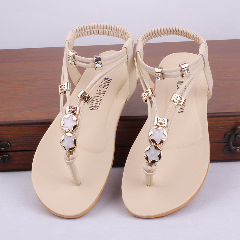 e40d6c2b1 2015 New Girls Summer Style Gladiator Boho Chic Sandals Kids Casual Casual  Beach Shoes Children Flip Flops Slippers , LJ010-in Sandals from Mother &  Kids on ...