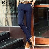 2018 Male Casua Cotton Pants Black Dark Blue Warm Velvet Autum Midweight Full Length Pant Designer