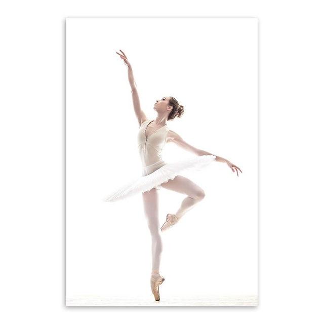 Online Shop Modern Ballet White Swan Beautiful Girl Dancer Photo Art ...