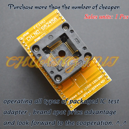 TQFP44 LQFP44 QFP44 test socket CNV-QFP44-DIP40  programmer adapter QFP44 to DIP40 adapter Pitch=0.8mm