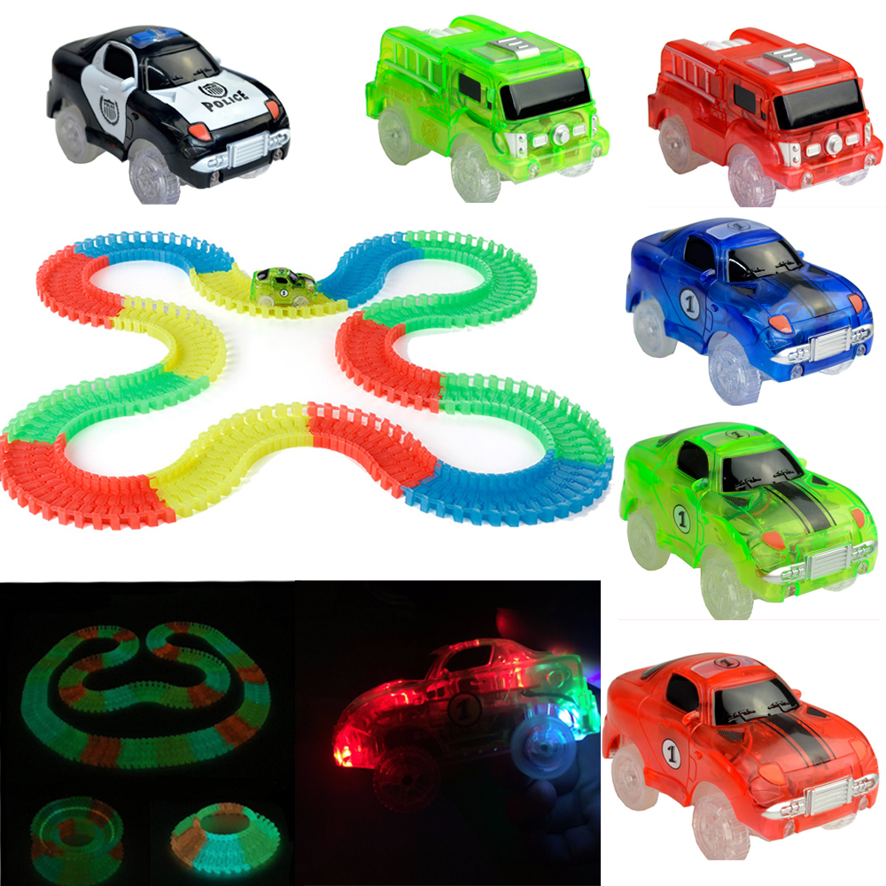 Normal Size Glow Racing Track Set 5 Led Light Track Car
