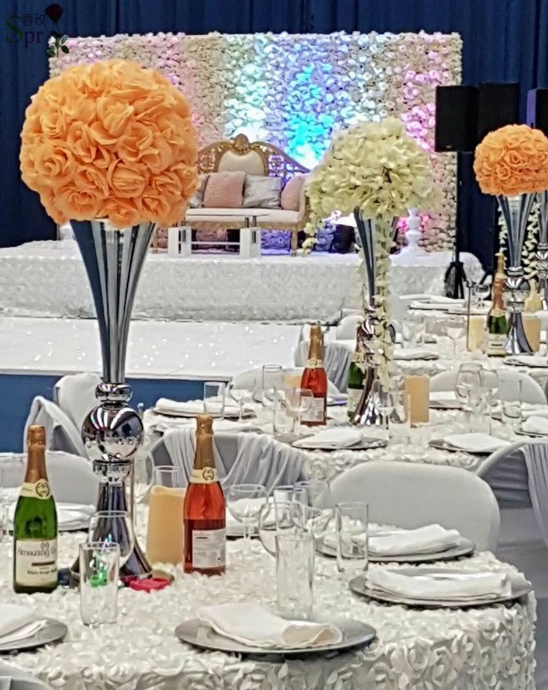 SPR perzik bruiloft tafel middelpunt zelfs planning decoratie - Feestversiering en feestartikelen - Foto 1