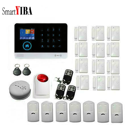SmartYIBA Wireless Home Alarm System Security Home RFID arm disarm Russian Spanish Franch Dutch Italian English Polish Voice  SmartYIBA Wireless Home Alarm System Security Home RFID arm disarm Russian Spanish Franch Dutch Italian English Polish Voice
