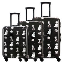 "DAVIDJONES 20″24″28″ 3Piece spinner Luggage Sets Multiwheel Hardside PC + ABS Vintage Trolley carry-on 20"" borading suitcase"