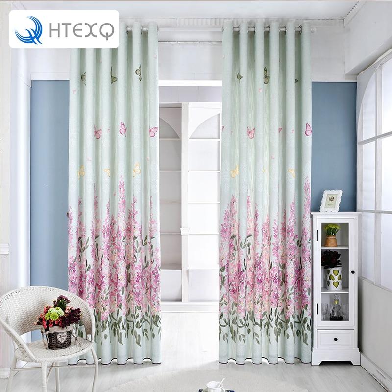 Fashion style jacquard window treatments floral linen