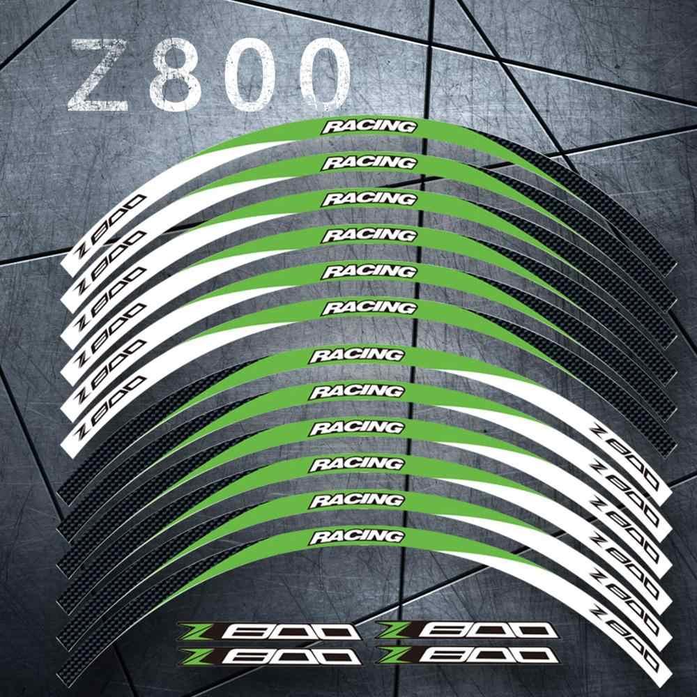 Мотоцикл передний и задний край внешний обод наклейки 17 дюймов колесные наклейки Светоотражающие Водонепроницаемые наклейки для Kawasaki Z800